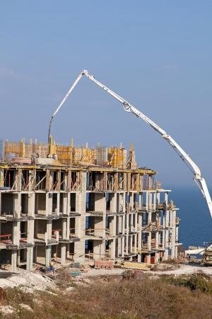 Construction of new elite housing on the sea coast Stock Photo - 16004253