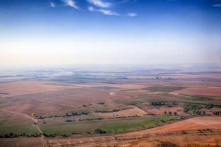 Beautiful view of fields from big height  HDR image Stock Photo - 16254759