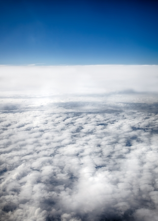 View of clouds from a airplane window  HDR image Stock Photo - 16254752