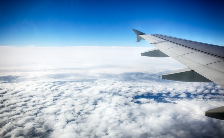 View of clouds from a airplane window  HDR image Stock Photo - 16254754