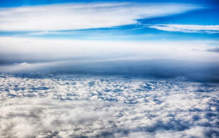 View of clouds from a airplane window  HDR image Stock Photo - 16254753