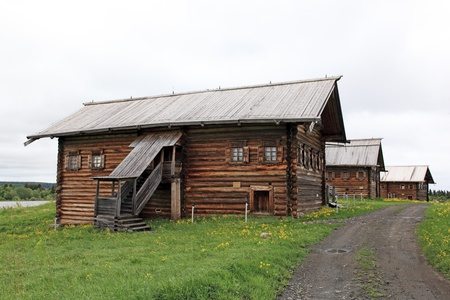 onega: Peasant house in Kizhy island  Karelia, Onega lake, Russia
