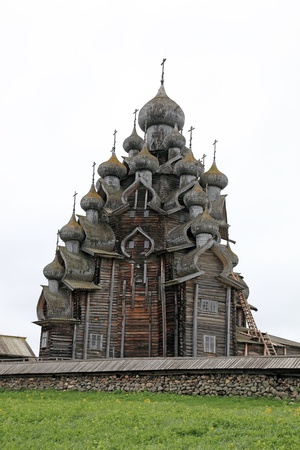 Wooden churches on island Kizhi on lake Onega, Russia Stock Photo - 16476205