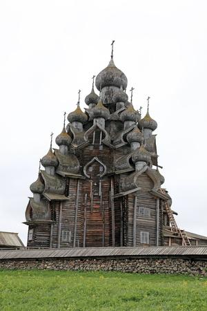 Wooden churches on island Kizhi on lake Onega, Russia Stock Photo - 16476205