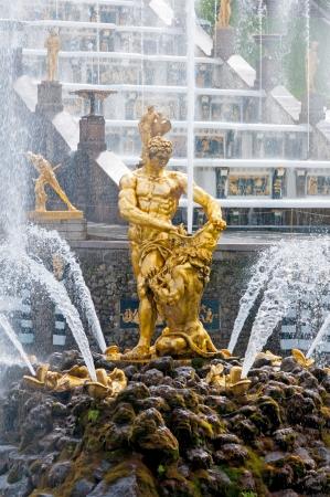 Fountains in Petergof park  Fountains Samson photo