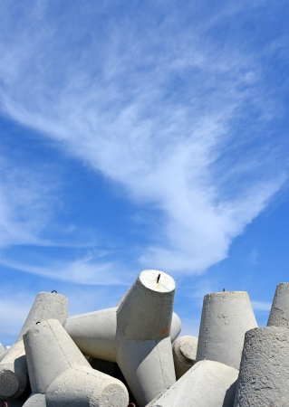 Breakwaters against the sky photo