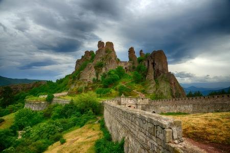 bulwark: Belogradchik rocks Fortress bulwark, Bulgaria HDR image Stock Photo