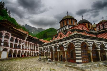 Rila Monastery The largest Orthodox monastery in Bulgaria HDR image Stock Photo