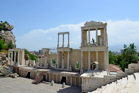 Römische Amphitheater in Plovdiv, Bulgarien Standard-Bild - 19943027