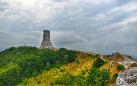 Memorial Shipka view in Bulgaria  Battle of Shipka Memorial