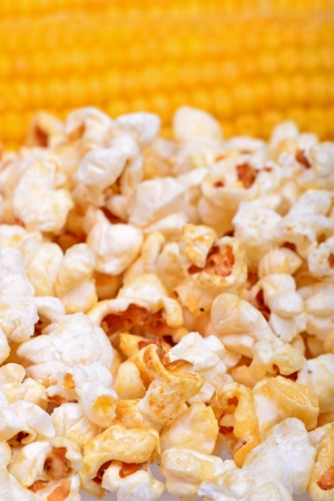Sweet corn and popcorn photo