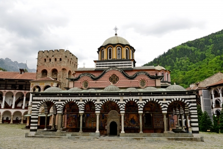 Rila Monastery.The largest Orthodox monastery in Bulgaria