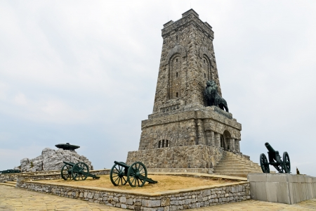 Memorial Shipka view in Bulgaria. Battle of Shipka Memorial