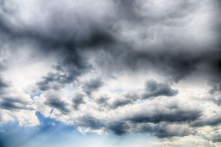 Clouds and blue sky background. HDR image photo