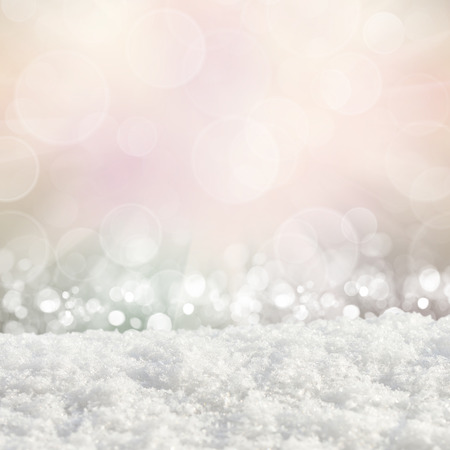 frost winter: Christmas festive background with snow drifts on an abstract background Stock Photo