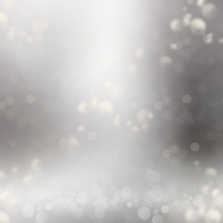 argent: Abstract silver background with bokeh and circles Stock Photo