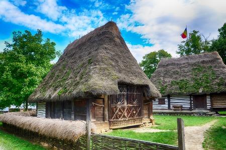 Die alten Häuser, Dorfmuseum, Bukarest, Rumänien, Europa, HDR-Bild