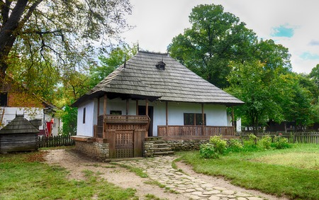 ethnographic: The old houses,village museum,Bucharest,Romania,Europe,HDR image Editorial