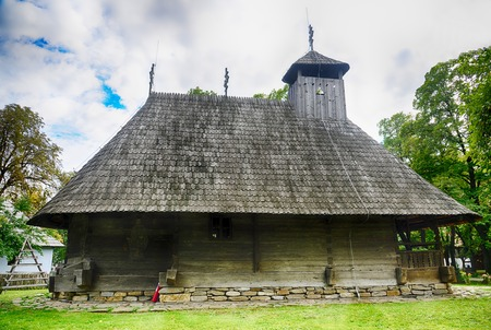 bucuresti: The old church,village museum,Bucharest,Romania,Europe.HDR image
