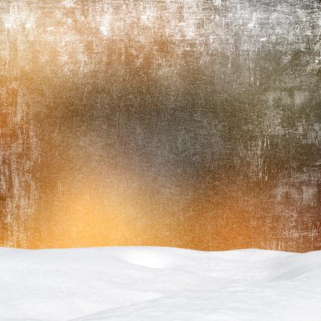 snowdrift: Winter background-Abstract bokeh lights and snowdrift Stock Photo
