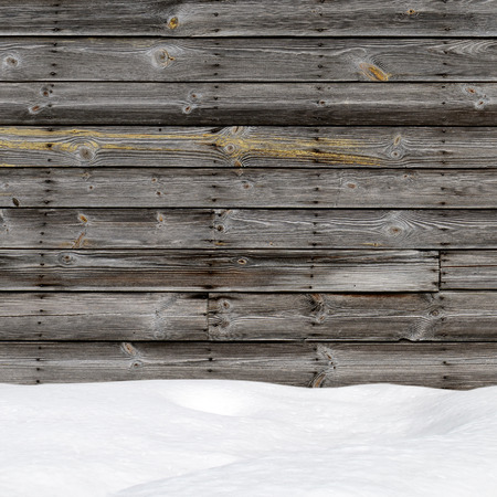 snow drift: Snow drift on wood boards with blank space