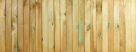 grooved: Top view of wooden table. Grooved pine boards with knots