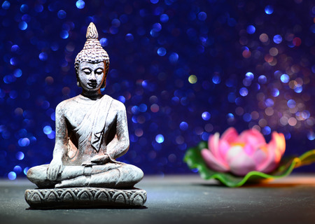 Zen buddha statue and a lotus flower on a bright shiny glitter zen buddha statue and a lotus flower on a bright shiny glitter stock photo picture and royalty free image image 64532592 mightylinksfo