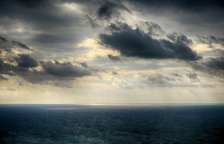 hdri: Beautiful sky over the sea after the storm. High Dynamic Range photo
