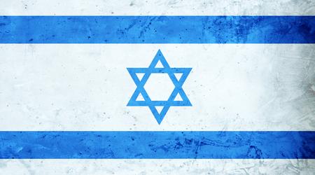 israeli: Israeli flag cement texture