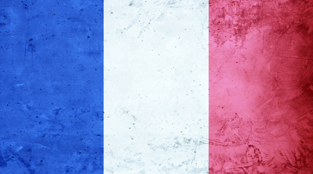 French flag cement texture Stock Photo