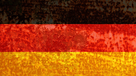 German flag rusty metal texture