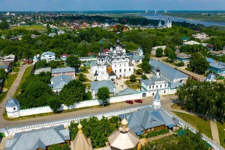 Annunciation Monastery in Murom, Russia. Aerial drone panoramic view Standard-Bild - 131955849