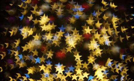 Star bokeh lights. Abstract christmas background