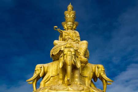 enlightment: Jinding Temple Stock Photo