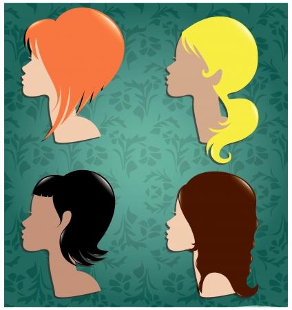 Fashion hair woman glamour Stock Vector - 22176315