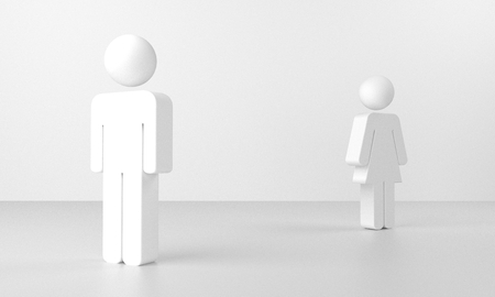 3d rendering of a couple having differences photo