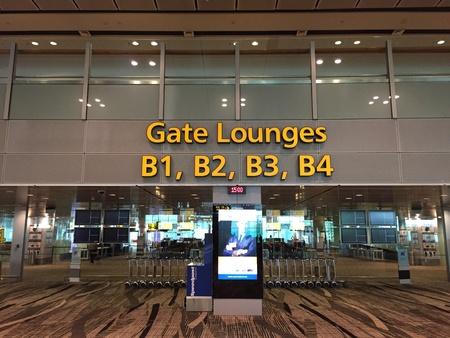 payphone: Duty Free Flight Gates Singapore Changi Airport Terminal 3 Stock Photo