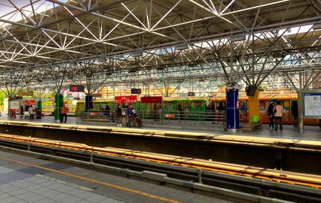 transit: Mass rapid transit (train, station, metro) Plaftform Editorial