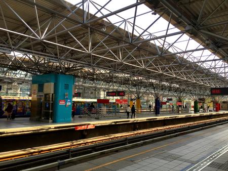 transit: Mass rapid transit (train, station, metro) Platform Editorial
