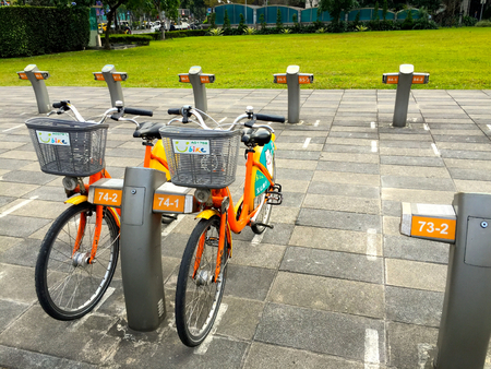 rentals: U-bike bicycle rentals; U-bike is an initiative by Taipei City to promote environmentally friendly transport. Editorial