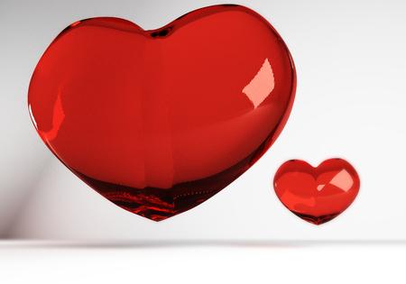 corazon cristal: Procesamiento 3D de dos lisa coraz�n de cristal