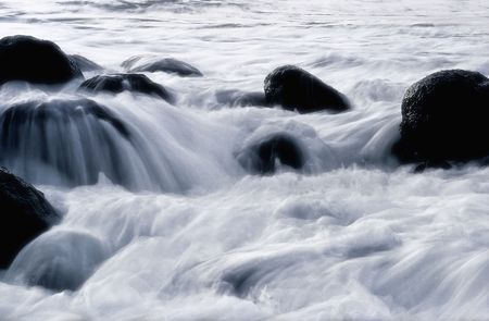 nuance: surf wave gently in the morning to give nuance to make it convenient to see  Stock Photo