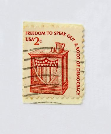 20 years old: Freedom to Speak Out, old postage than 20 years old of USA
