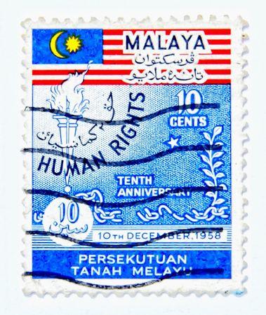 diritti umani: Diritti umani, affrancatura vecchio pi� di 20 anni di Malaysia