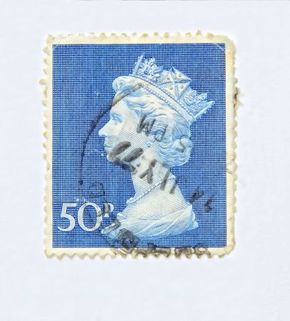 20 years old: Queen Elisabeth, old postage more than 20 years old of Australia Editorial
