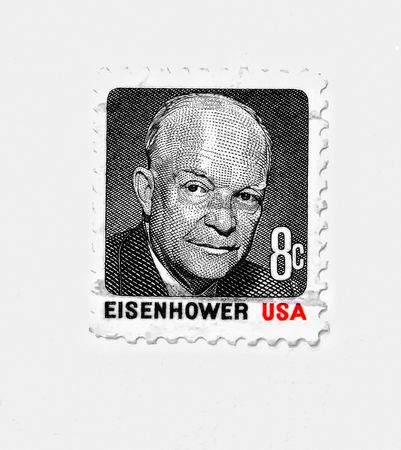 eisenhower: EISENHOWER , old postage more than 20 years old.USA Editorial