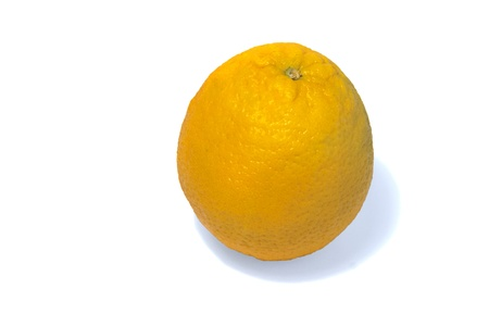Beautiful yellow orange on a white background.