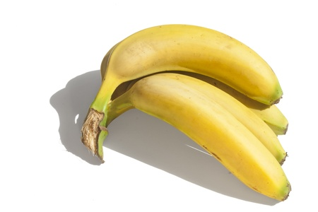 Bananas on a white background Stock Photo