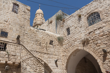 Walk through the ancient streets of Jerusalem  photo