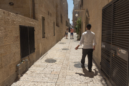 jewish home: Walk through the ancient streets of Jerusalem